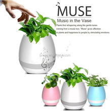 factory price high quality plastic bluetooth music led light sing flower planter