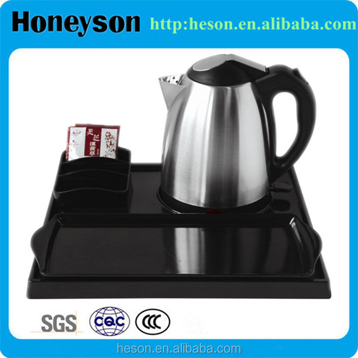 Hotel stainless steel korean tea kettle tray set