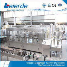 Bottle filling capping and labeling machine for drinking water