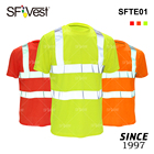 100% Polyester Birdeyes Warning Fluorescent T Shirts Work Security Protective Clothing Safety Hi Vis Reflective T-Shirts for Men