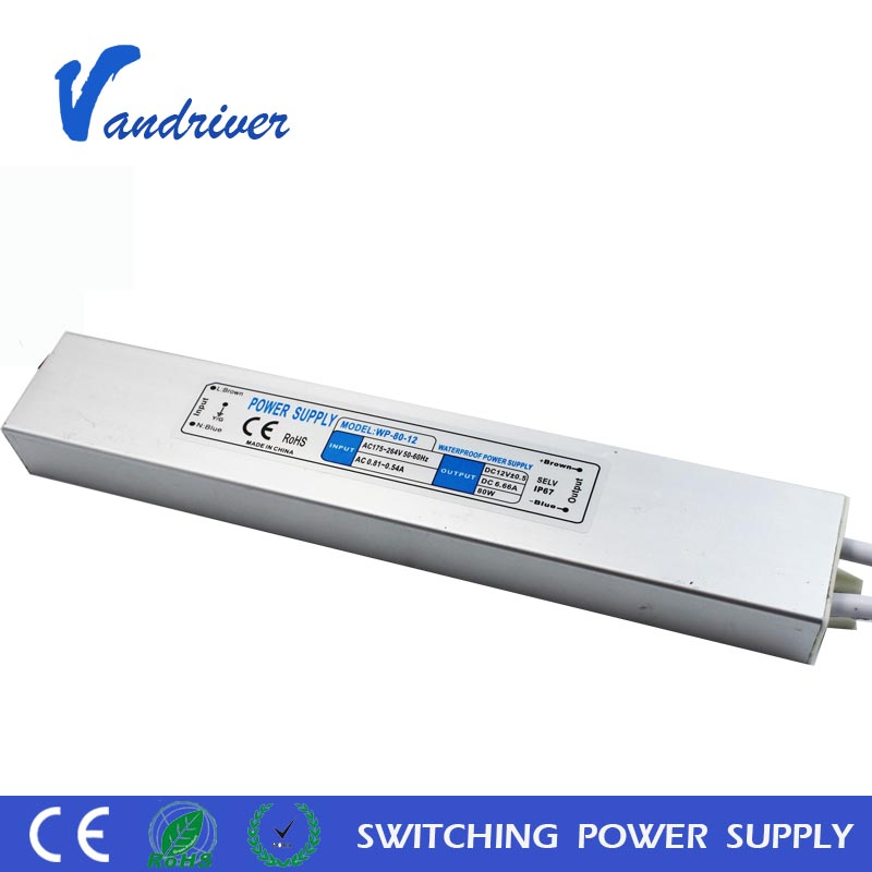 2 years warranty 80w 100w 120w 12V 24V 36V LED Power Supply IP65 Waterproof LED Driver Constant Voltage