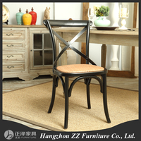 Cross Back Wood Chair Antique Wooden