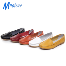 Factory Price Multicolor Fashion Women Casual Slip-on Genuine Leather Shoes