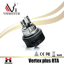 Vertex Plus RTA box mod china supply best selling ecig product 510 thread black tank