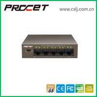 Hot Selling Metal Shell 48V Gigabit 4 Port PoE Switch