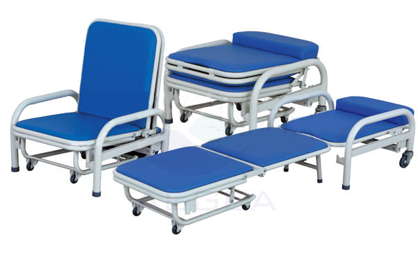 AG-AC003 Steel power coated accompany bed hospital medical used hospital chairs