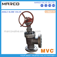High quality industrial applied iron or steel body material standard angle pattern globe valve