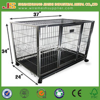 "37"" Dog Kennel w Wheels Portable Pet Puppy Carrier Crate Cage made in China"