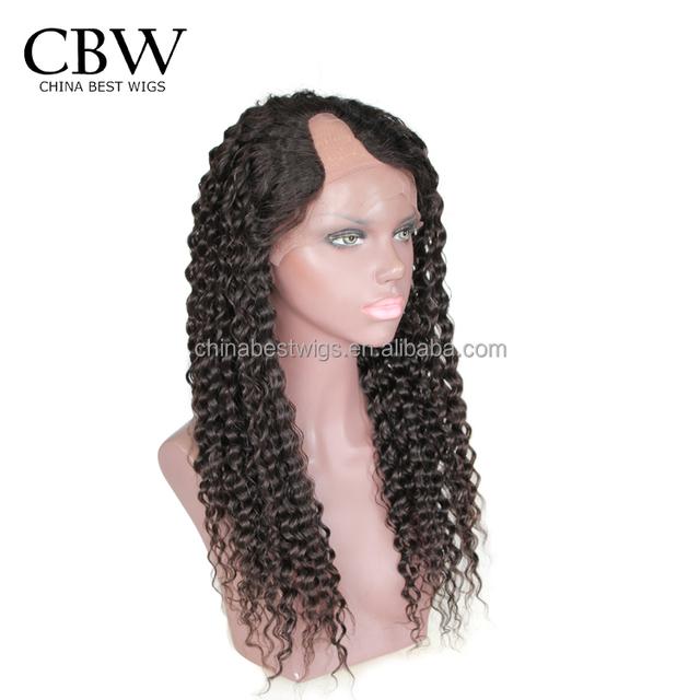 Nice quality Brazilian virgin human hair cheap Brazilian hair U part wigs for black women