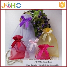 China Manufacturer Wholesale Custom Fashion Cheap Organza Packaging Bag with drawstring for Candy Gift Promotion Wedding