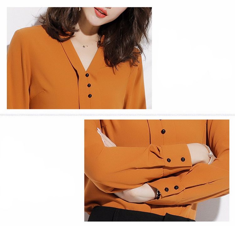 Office Women Shirts Blouses Elegant Ladies Chiffon Blouse