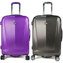2014 Weaving grain design trolley luggage bag brand name suitcase travel