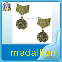 High quality metal gift wholesale brass plated ancient medallion