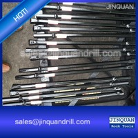 Integral drill rod for rock quarrying
