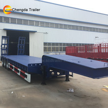 Heavy construction equipment transport 3 axle 60 ton trailer truck for sale in the philippines