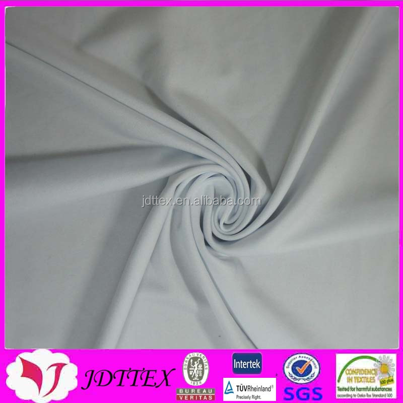 90 polyester 10 elastane stretch milk silk underwear fabric 130gsm