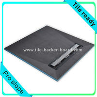 USA Linear drain shower pan with slope