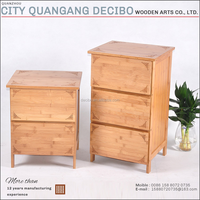 2017 Latest Bamboo Wooden Bedroom Nightstands