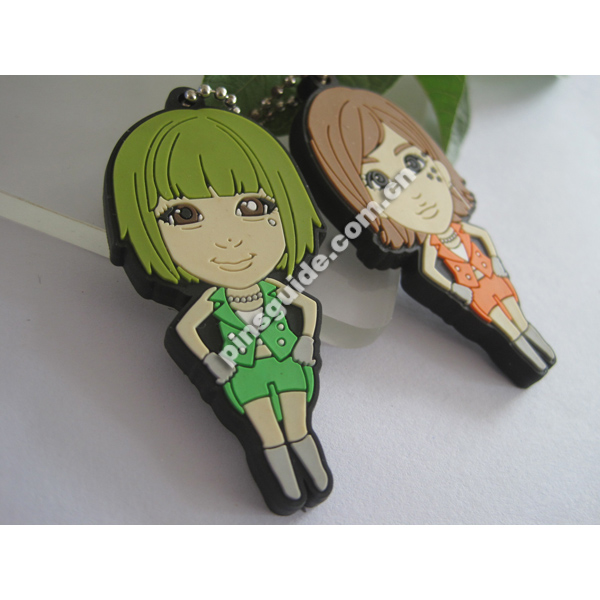 Professional Manufacturer Safety Custom Logo 2D Plastic Hanger Keychain For Souvenir