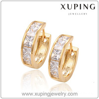 Fashion women Jewelry Hoop diamond Earring models 18K Gold Plated earring