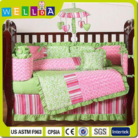 Luxury ruffled decorative design baby bedding set