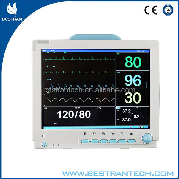 "BT-PM9D hospital 15"" color TFT screen Multi-channel mindray patient monitor"