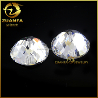 special shape flat back shining cubic zirconia flat back faceted cut cz gemstone