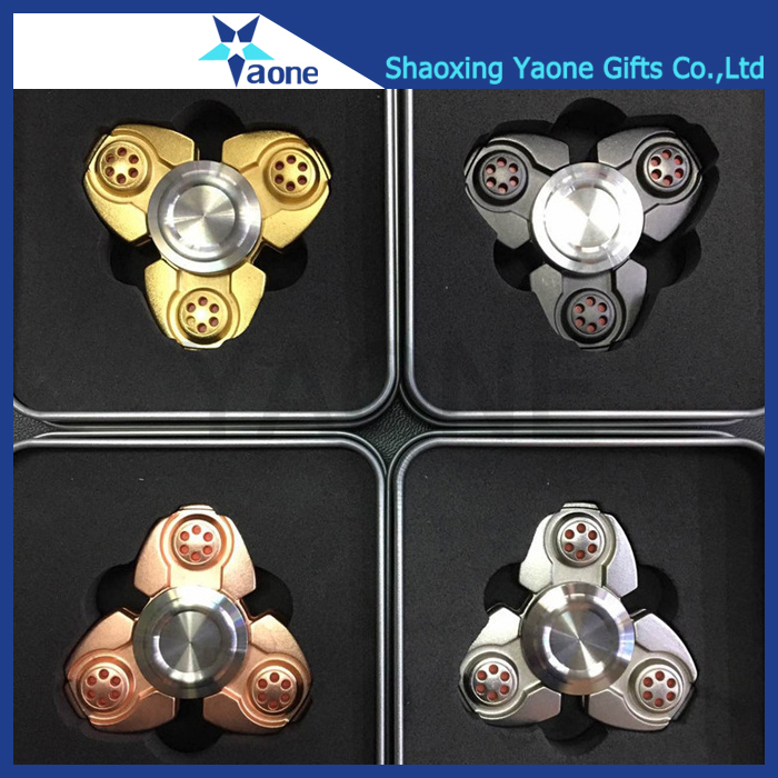 Logo Printing On Cap Packing CKF Style Aluminum Fidget Spinner With Stress Relief Hand Spinner Toys
