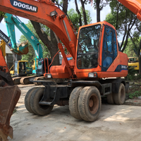 Competitive price second hand doosan wheel excavator used doosan dx140w/dh140w/dh150w/dh55/dh60 heavy