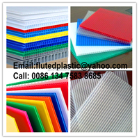 PP corrugated plastic honeycomb cardboard sheets