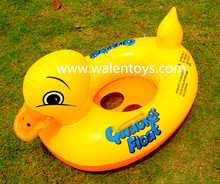EN71factory pvc pool swimming floating inflatable yellow duck baby seat