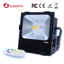 2.4G RF 190W gledopto Ip65 garden waterproof lamp RGBW floodlight meanwell driver led flood light