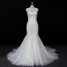 China OEM Supply Tulle/Net Mermaid Wedding Dress Bridal Gown Latest