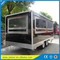 food caravan mobile kiosk container restaurant food van concession trailer