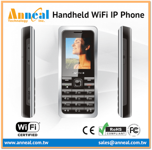 Small Compact Slim Size Dual Mode WiFi SIP Cordless GSM Phone