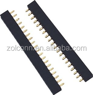 1.0 mm female header single row bottom entry connectors