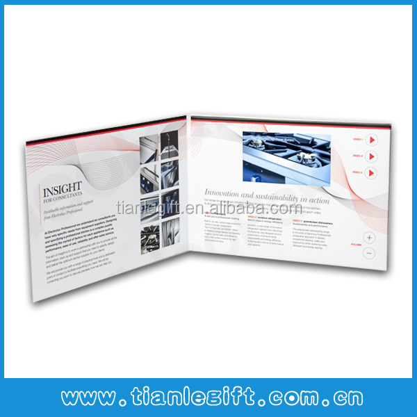 "2014 popular 4.3"" video graphic card, video graphic brochure"
