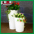 Wireless remote colorful illuminated light up round pot for decorationgarden LED flower pot