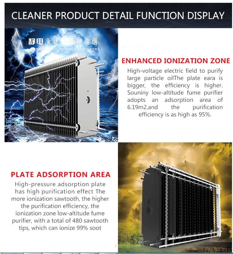 OEM 4000m3h Oil Fume Lampblack Purifier Commercial Kitchen Electrostatic Precipitator ESP In Gas Disposal