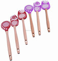 Custom design 3-piece wood handle silicone pink spatula
