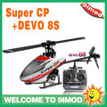 Walkera Super CP 6CH rc helicopter W/T DEVO 8S rc Transmitter