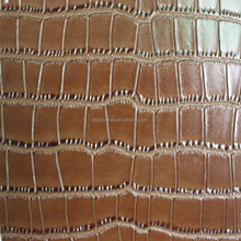 crocodile embossed pattern polished pvc artificial leather for bags shoes and decrative