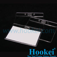Transparent PVC Plastic Badge Holder