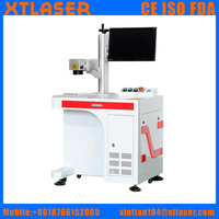 High precision 20W optical fiber laser marking machine for knife , guns. gift, craft, keychain