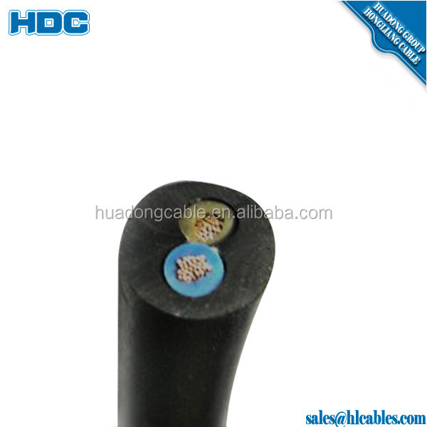 300/500V IEC 53 YZ IEC 57 YZW Ordinary duty flexible rubber cable 0.75mm2 1mm2 1.5mm2 2.5mm2 multicore rubber cable