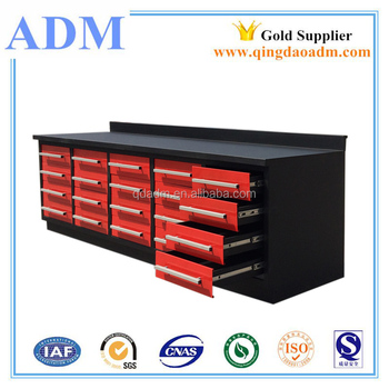 China High quality cheap 112inch steel workbench with 20drawers
