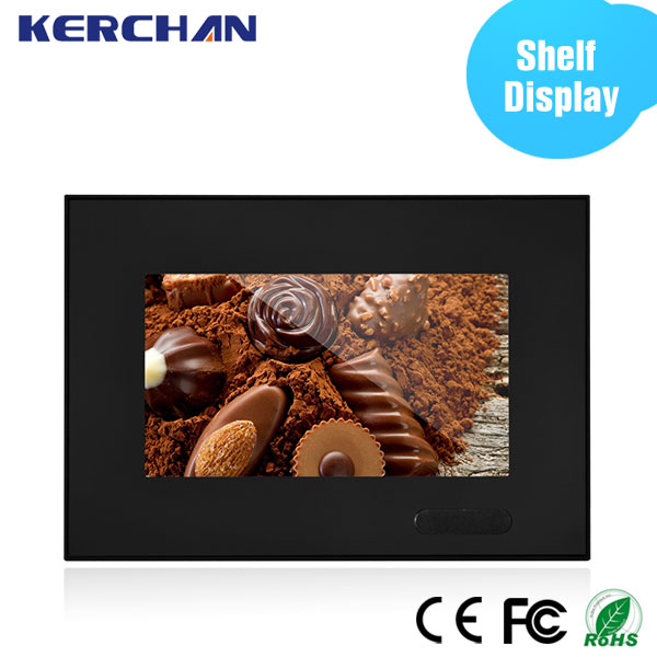 "Anti theft shelf talker 7"" lcd monitor usb video media player for advertising"