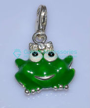 custom design fake frog charms wholesale price