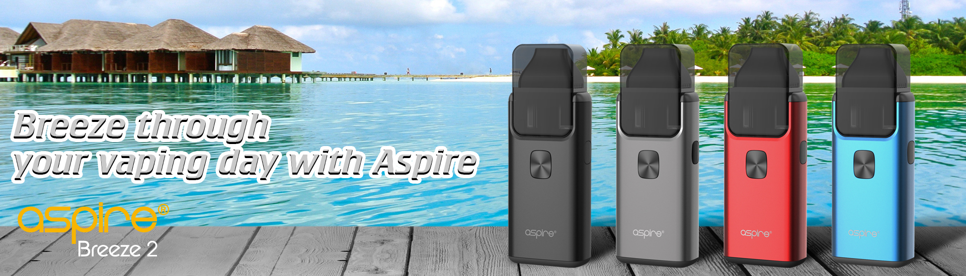 2018 Portable Electric Cigarette Aspire Breeze 2 Pod System Vape Kit from China Supplier