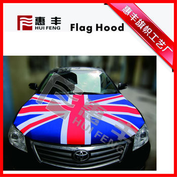United Kingdom cheap car engine hood cover car flag